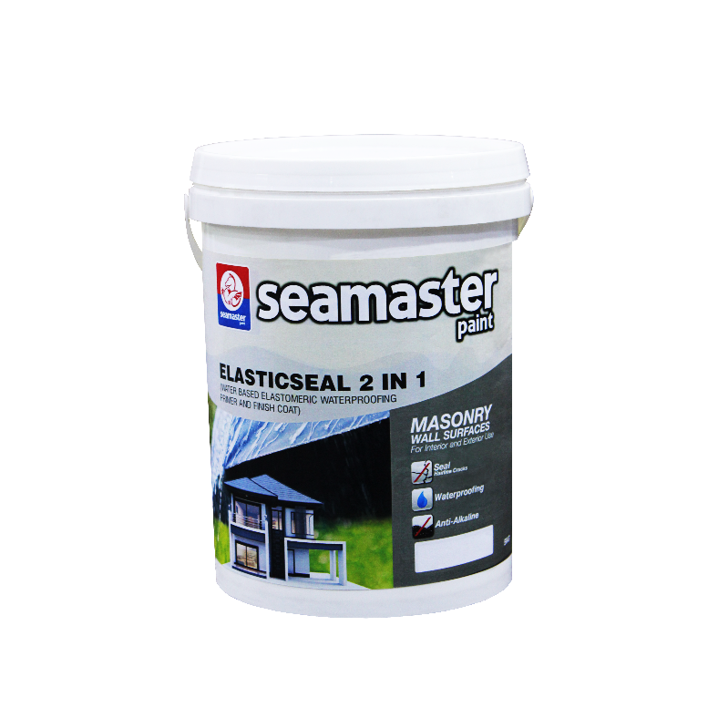 Seamaster Elasticseal 2 in 1  (Water Based Elastomeric Waterproofing Primer And Finish Coat) 8605